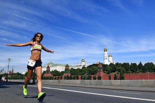 La partecipante alla Maratona Verde benefica a Mosca. - Sputnik Italia