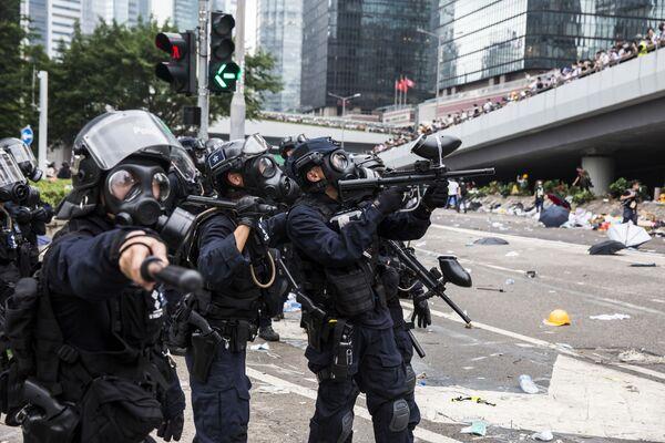 Le manifestazioni ad Hong Kong. - Sputnik Italia
