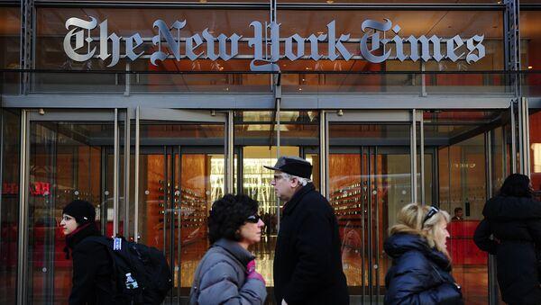 Entrata della sede di The New York Times a New York - Sputnik Italia