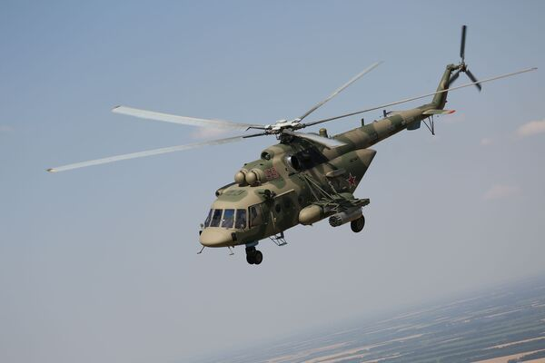 Un elicottero MI-8 durante le esercitazioni tattico-operative svoltesi nella regione di Krasnodar - Sputnik Italia