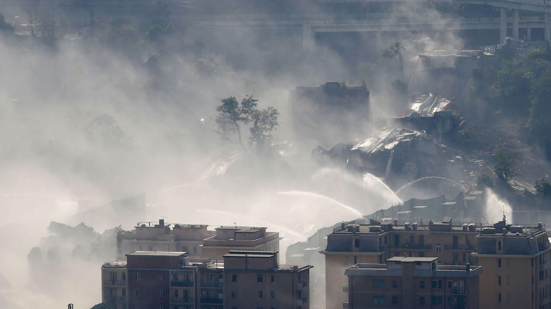 Dopo la demolizione del ponte Morandi a Genova, 26.08.2019 - Sputnik Italia, 1920, 14.08.2021