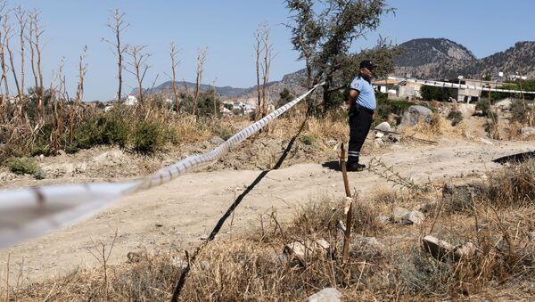 Polizia cipriota vicino al luogo dove è caduto un oggetto non identificato a nord del paese - Sputnik Italia