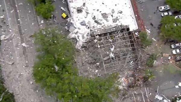 Le conseguenze dell'esplosione di gas a Planton, Florida - Sputnik Italia