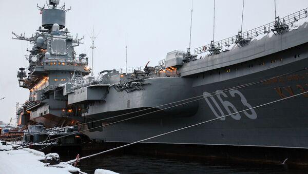 L'incrociatore portaerei pesante Ammiraglio Kuznetsov della flotta dell'Unione Sovietica - Sputnik Italia