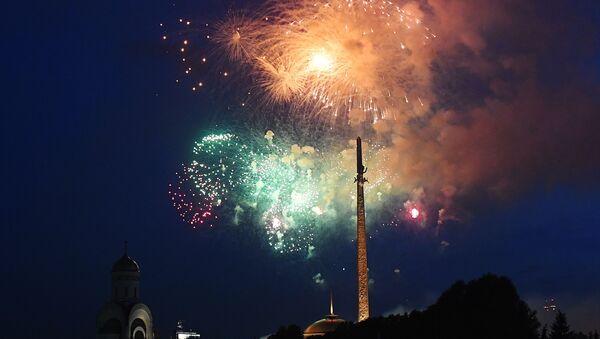 I fuochi d'artificio in onore del 75esimo anniversario della liberazione di Vilnius dall'occupazione nazista  - Sputnik Italia
