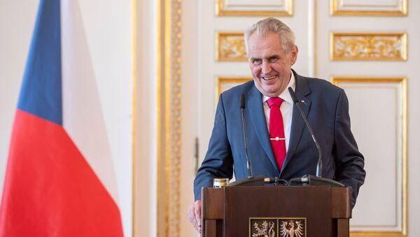 Il presidente ceco Milosh Zeman - Sputnik Italia