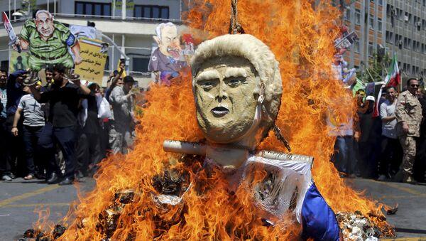 L'effigie di Donald Trump - Sputnik Italia