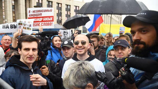 Manifestanti a Mosca il 10 agosto 2019 - Sputnik Italia