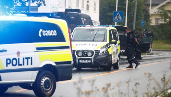 Polizia sul posto della sparatoria in Norvegia - Sputnik Italia