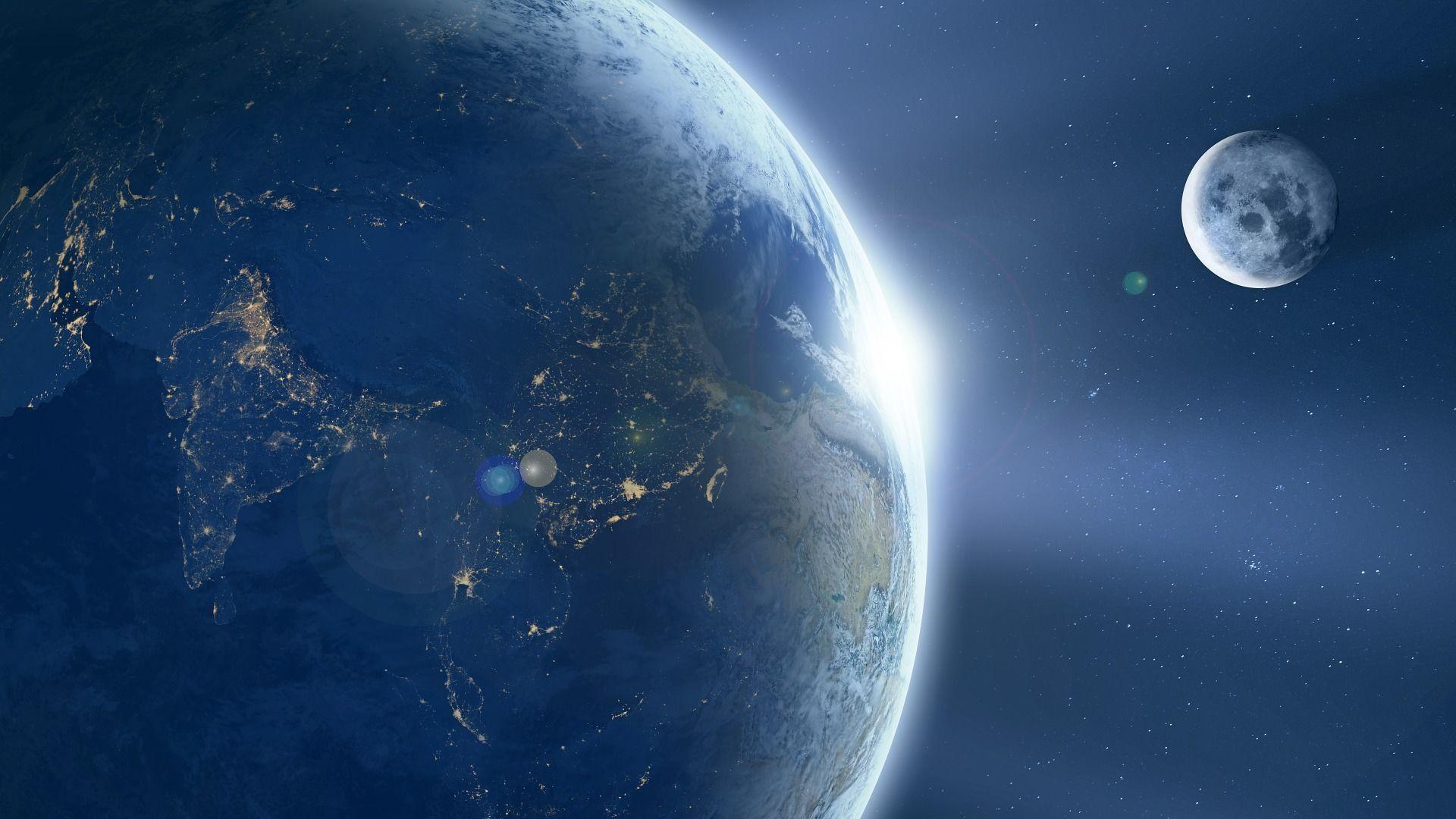 Il pianeta Terra e la Luna - Sputnik Italia, 1920, 16.09.2021
