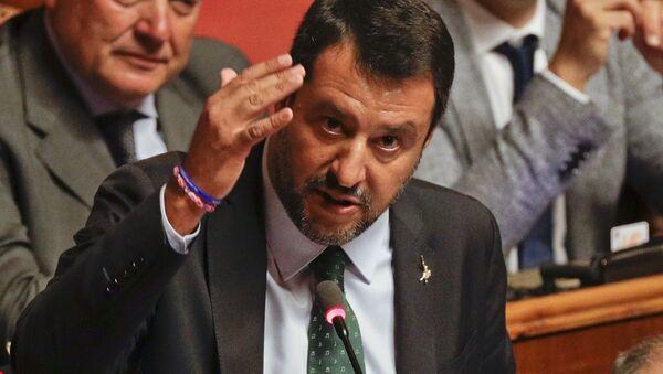 Matteo Salvini durante il discorso al Senato il 20 agosto - Sputnik Italia