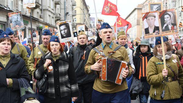 Il Reggimento Immortale a Mosca - Sputnik Italia