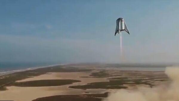 La navetta Starhopper di SpaceX a 150 metri da terra - Sputnik Italia