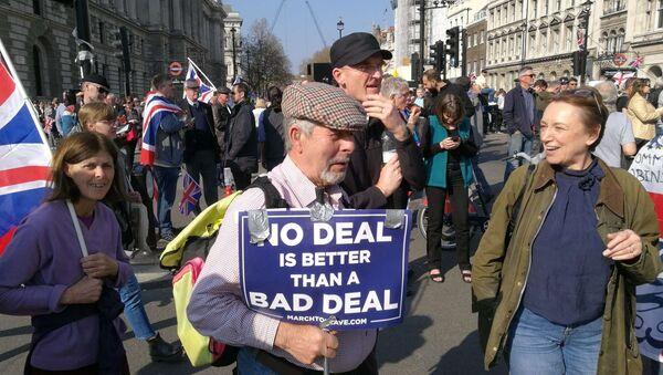 Le proteste contro Brexit a Londra, marzo 2019 - Sputnik Italia