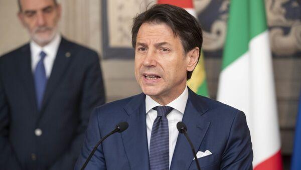 La dichiarazione del Prof. Giuseppe Conte, al termine dell'incontro con il Presidente Sergio Mattarella. - Sputnik Italia