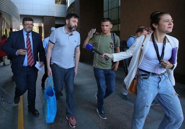 Il giornalista Kirill Vyshinsky, direttore dell'agenzia RIA Novosti Ukraina, liberato a Kiev. - Sputnik Italia