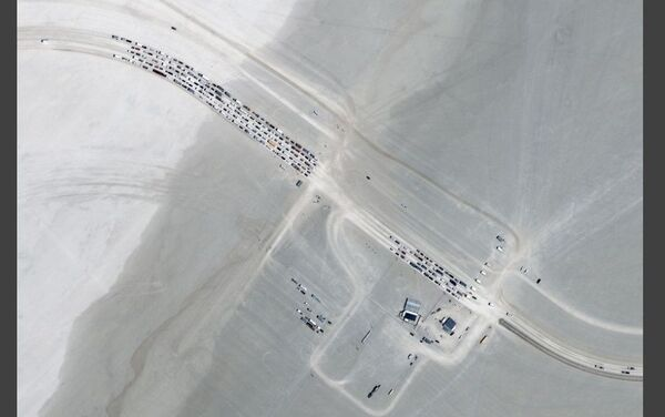 Burning Man - foto satellitare - Sputnik Italia
