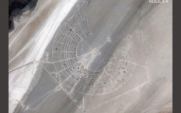 Burning Man -foto satellitare - Sputnik Italia