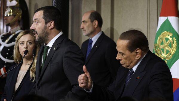 Matteo Salvini e Giorgia Meloni  - Sputnik Italia