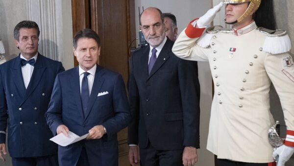 Il Presidente del Consiglio incaricato Prof. Giuseppe Conte,al termine dell'incontro con il Presidente Sergio Mattarella - Sputnik Italia