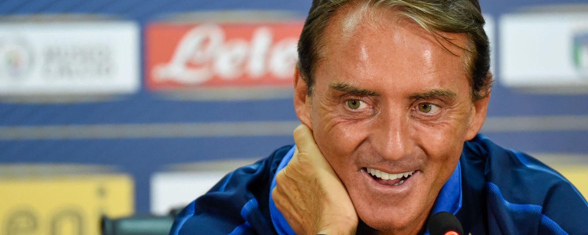 C.T. della Nazionale Italiana Roberto Mancini in conferenza stampa - Sputnik Italia, 1920, 10.07.2021