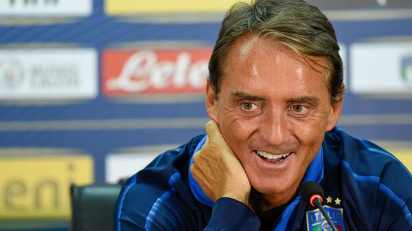 C.T. della Nazionale Italiana Roberto Mancini in conferenza stampa - Sputnik Italia