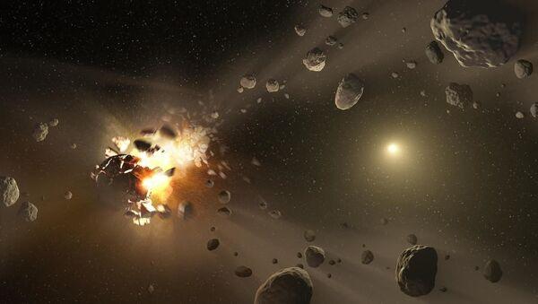 L'illustrazione della possibile collisione tra asteroidi - Sputnik Italia