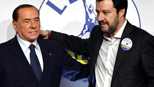 Silvio Berlusconi e Matteo Salvini - Sputnik Italia