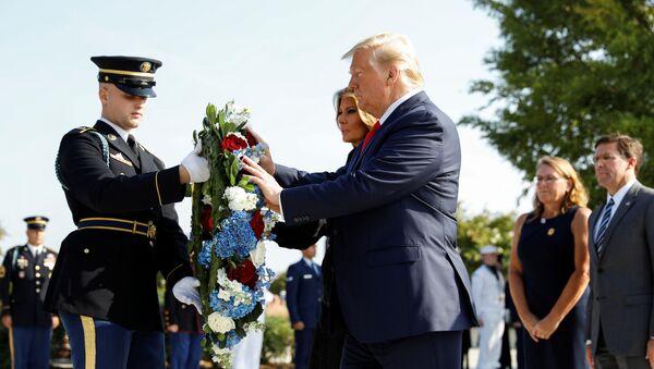 Presidente Usa Donald Trump e la first lady Melania Trump - Sputnik Italia