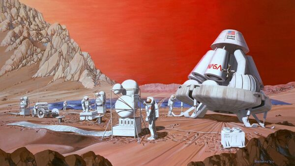 Disegno degli astronauti su Marte - Sputnik Italia