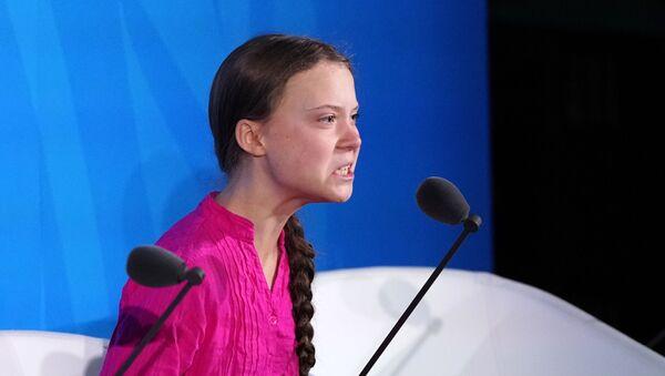 16-year-old Swedish Climate activist Greta Thunberg speaks at the 2019 United Nations Climate Action Summit at U.N. headquarters in New York City, New York, U.S., September 23, 2019 - Sputnik Italia