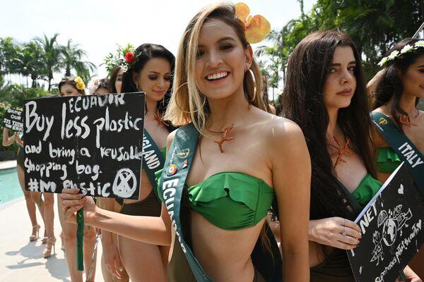 Una candidata a Miss Earth 2019 dell'Ecuador. Il concorso di bellezza Miss Earth si svolgerà il 26 ottobre nelle Filippine. - Sputnik Italia