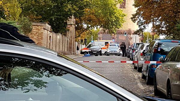 La situazione a Halle dopo la sparatoria, il 9 ottobre 2019 - Sputnik Italia