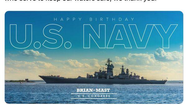 Deputato americano si congratula con la marina USA postando l'incrociatore russo - Sputnik Italia