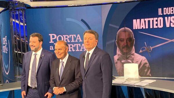 Scintille tra Renzi e Salvini nel duello da Vespa - Sputnik Italia