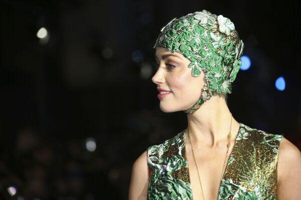 L'attrice statunitense Amber Heard alla premiere di 'Aquaman' a Londra - Sputnik Italia
