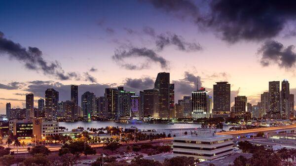 Miami, Florida, skyline, sunset - Sputnik Italia