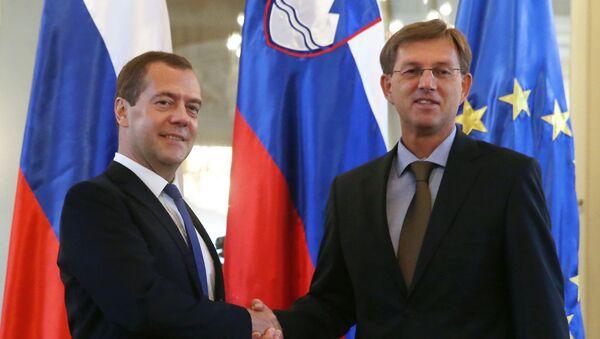 Dmitry Medvedev e il primo ministro della Slovenia Miroslav Cerar - Sputnik Italia