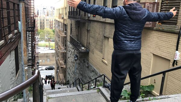 Le scale di Joker a New York - Sputnik Italia