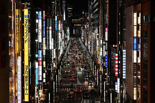 Panoramica del quartiere Ginza di Tokyo, il 23 ottobre 2019 - Sputnik Italia