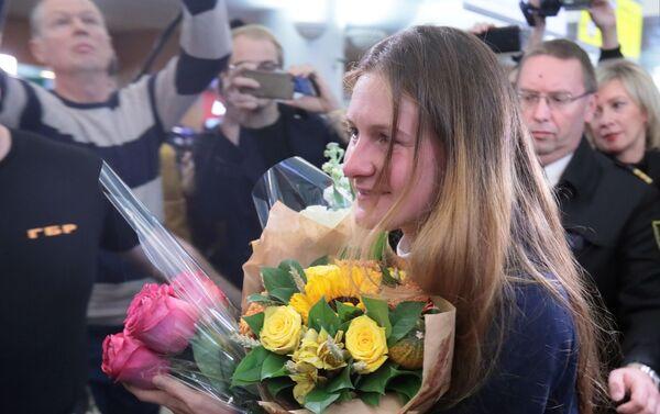 Maria Butina atterra a Mosca - Sputnik Italia