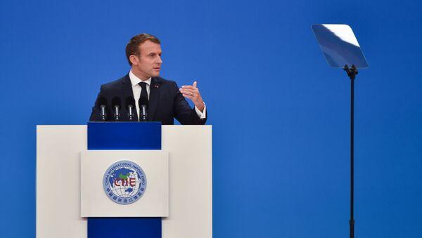 Presidente francese Emmanuel Macron in visita in Cina - Sputnik Italia
