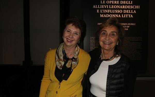 Irina Artemieva, direttore dell'Ermitage Italia con Annalisa Zanni, direttore del museo Poldi Pezzoli - Sputnik Italia