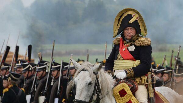 Oleg Sokolov durante una rievocazione di battaglie di epoca napoleonica nel 2016 - Sputnik Italia