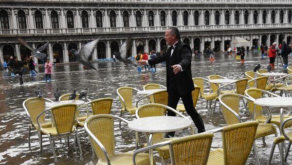 Acqua alta a Venezia - Sputnik Italia
