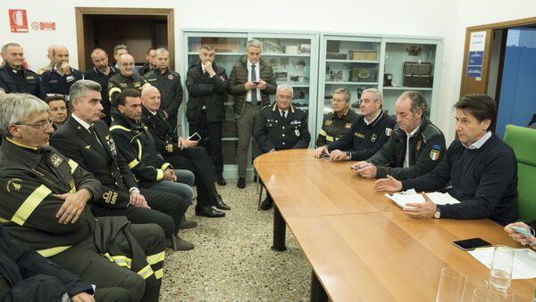 Maltempo, Conte alla riunione operativa a Venezia - Sputnik Italia