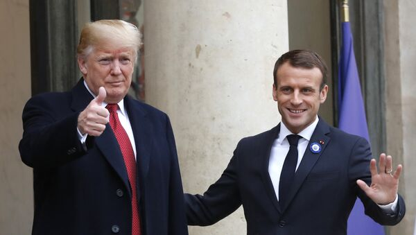 Donald Trump e Emmanuel Macron - Sputnik Italia