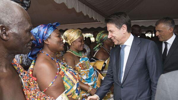 """Il premier Conte in Ghana alla cerimonia di inaugurazione della Scuola di formazione professionale """"Okuafo Pa"""" al Doorma East District - Sputnik Italia"""