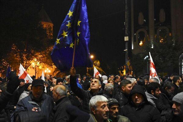 Manifestazioni pro UE a Tbilisi, in Georgia. - Sputnik Italia