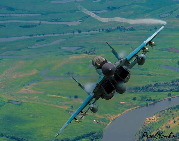 Il caccia russo MiG-29K, originariamente sovietico, prodotto dalla Mikoyan-Gurevich. Il MiG-29K è stato sviluppato alla fine degli anni '80 dal MiG-29M. Mikoyan lo descrive come un aereo di generazione 4+. - Sputnik Italia